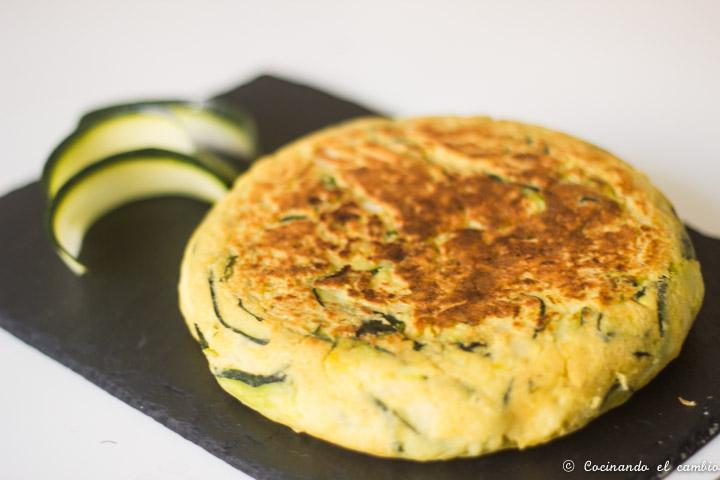 Tortilla de calabac n sin huevo cocinando el cambio - Tortilla de calabacin y cebolla ...