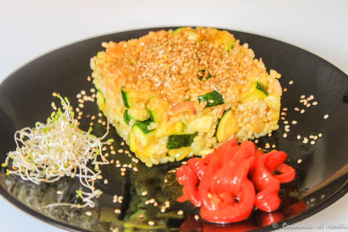 Arroz con verduras y tamari cocinando el cambio - Cocinando el cambio ...