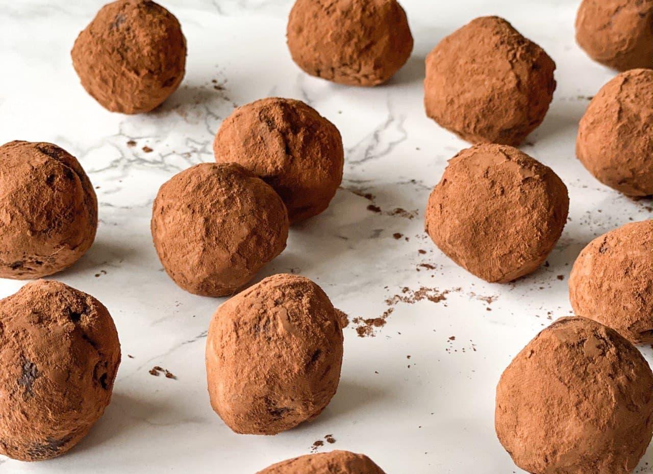 Trufas de chocolate (cocina de aprovechamiento)