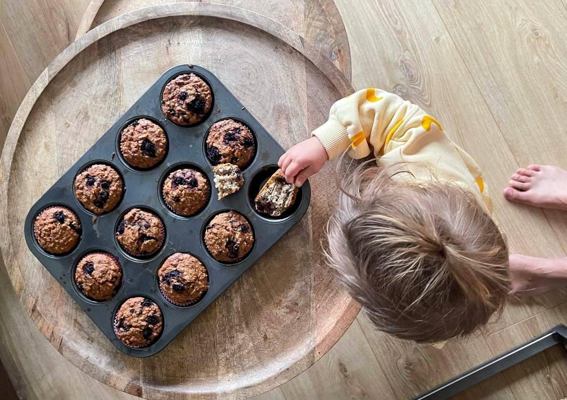 Receta de muffins aptos para bebes