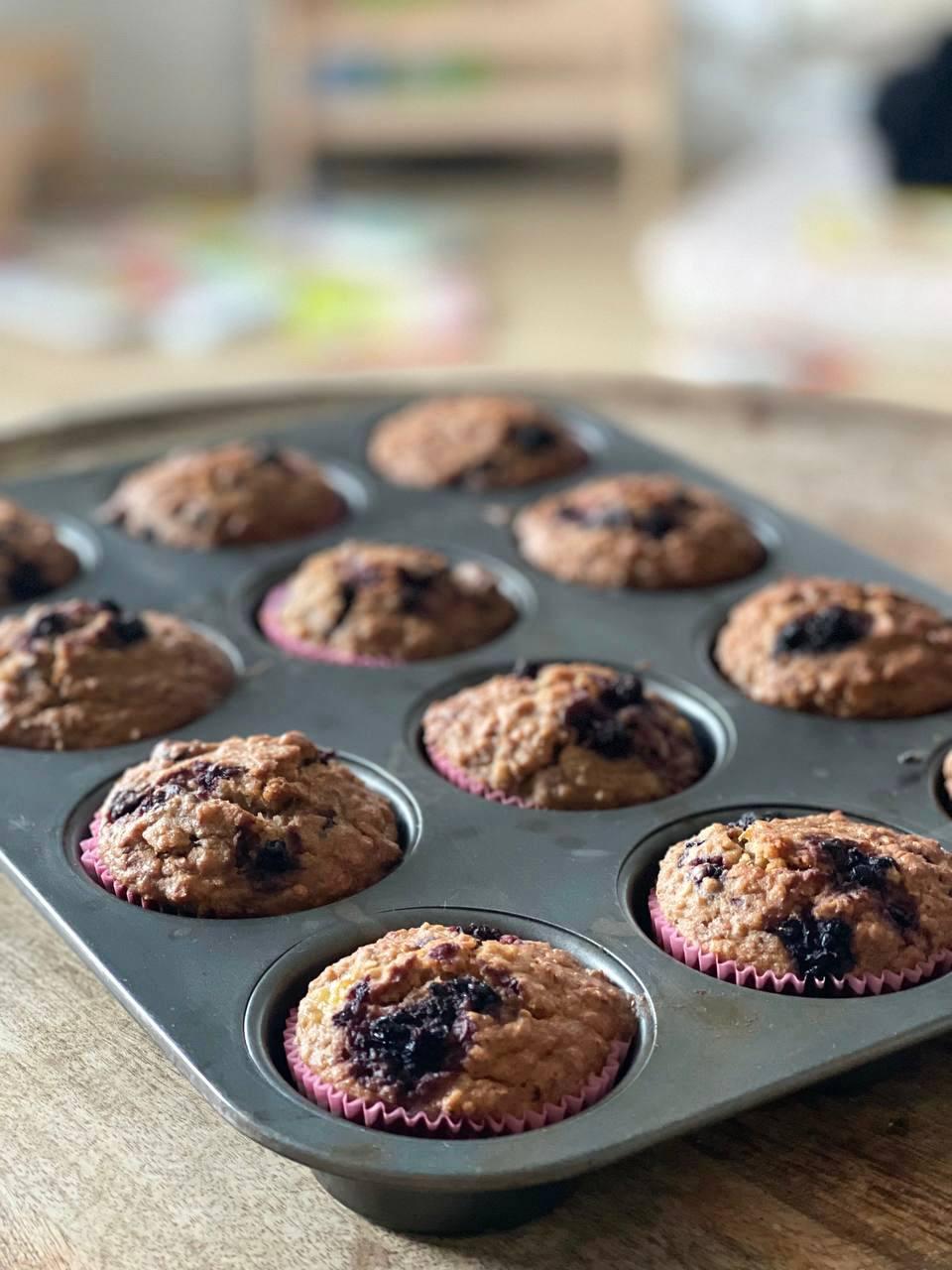Receta de muffins saludables